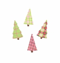 Plaid Tree Magnets- Asst. 4 - Round Top Christmas Collection
