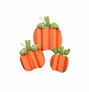 Pleated Patterned Pumpkins-Asst. 3 - Round Top Fall Collection