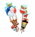 Retro Christmas Icons Lg - Asst. 4 - Round Top Christmas Collection