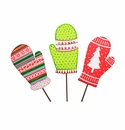 Retro Mitten Stakes- Asst. 3 - Round Top Christmas Collection