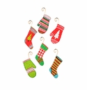 Retro Stocking & Mitten Ornaments- Asst. 6 - Round Top Christmas Collection