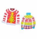 Retro Ugly Sweaters Lg- Asst. 2 - Round Top Christmas Collection