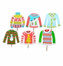 Retro Ugly Sweaters Md- Asst. 6 - Round Top Christmas Collection