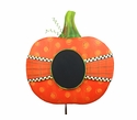 Ribbon Wrapped Chalkboard Pumpkin - Round Top Fall Collection