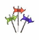 Scary Arrow Signs - Asst. 3 - Round Top Fall Collection