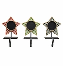 Star Stocking Holders- Asst. 3 - Round Top Christmas Collection