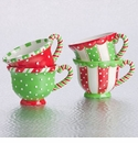 Tea Cups - Set Of 4 Assorted - Demdaco