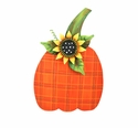 Whimsical Plaid Pumpkin - Round Top Fall Collection