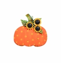 Whimsical Polka Dot Pumpkin - Round Top Fall Collection