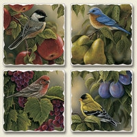 "Absorbent Tile Coaster Set - ""Connoisseurs"""