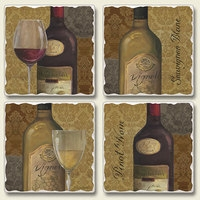"Absorbent Tile Coaster Set - ""From the Cellar"""