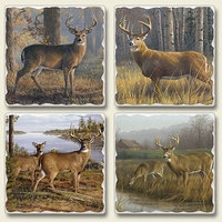 "Absorbent Tile Coaster Set - ""Legends"""