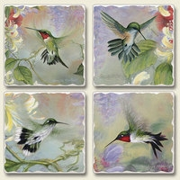 "Absorbent Tile Coaster Set - ""Natures Gift"""