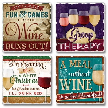 "Absorbent Tile Coasters - ""Group Therapy"""