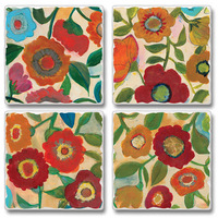 "Absorbent Tile Coasters - ""Park Collection"""