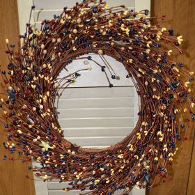"Artificial Wreath - ""Berry And Star Wreath"" - 20"""