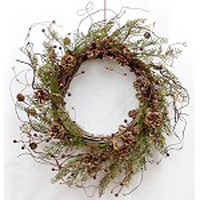 "Artificial Wreath - ""Country Cedar Wreath"" - 22"""