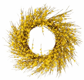 "Artificial Wreath - ""Forsythia  Wreath"" - 20"""
