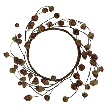 "Artificial Wreath - 'Natural Acorn Wreath"" - 12"""