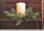 "Candle Ring -""Northern Soft Pine Candle Ring"" - 6"""