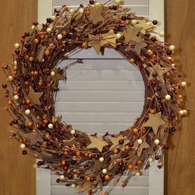 "Artificial Wreath - ""Roughsawn Wreath"" - 22"""
