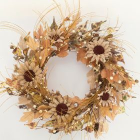 "Artificial Wreath - ""Sunflower Wreath"""