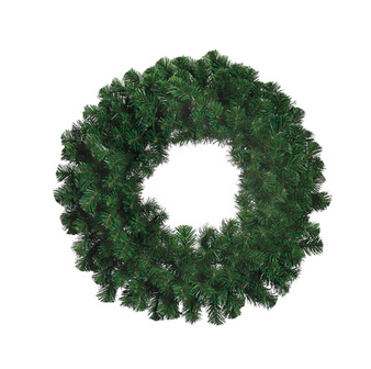 "Artificial Wreath - ""Windsor Pine Wreath"" -24"""