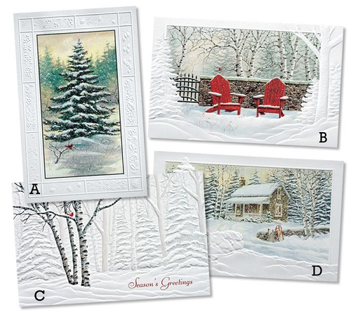 "Assorted Boxed Christmas Cards - ""Scenes of Winter"""