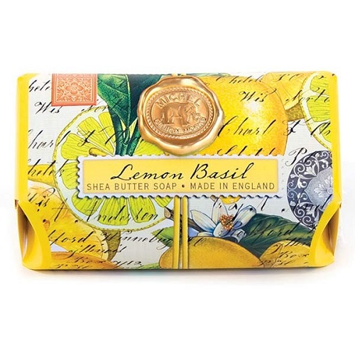 "Bath Soap Bar - ""Lemon Basil Bath Soap Bar"""