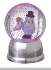"Battery Operated Rotating Shimmer Dome - ""Battery Operated Rotating Shimmer Snowman  Dome"""