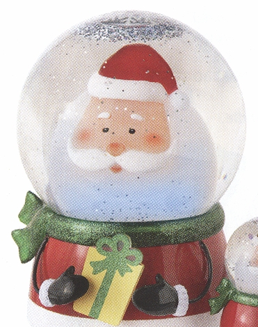 "Battery Operated Shimmer Dome - ""Battery Operated Shimmer Santa Dome With Motion"""