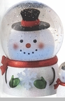 "Battery Operated Shimmer Dome - ""Battery Operated Shimmer Snowman Dome With Motion"""