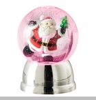 "Battery Operated Shimmer Dome - ""Rotating Santa Battery Operated Shimmer Dome"""