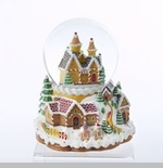 "Battery Operated Snowglobe - ""Gingerbread House"""