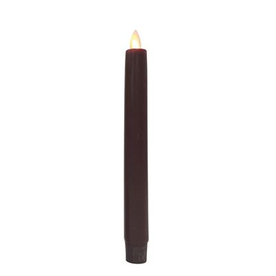 "Battery Operated Taper Candle -""Burgundy Battery Operated Taper Candle"" - 8"""