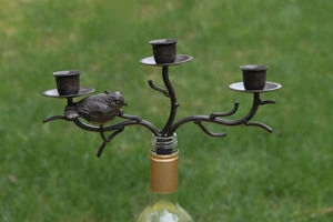 "Bottle Stopper - ""Triple Candelabra Bottle Stopper"""