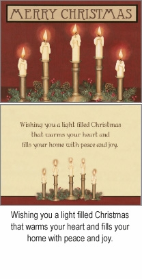 """Boxed Christmas Cards - """"Candles and Greens"""""""
