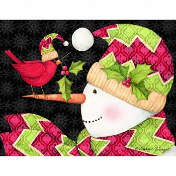 "Boxed Christmas Cards - ""Cardinal On Nose"" - Artist Susan Winget"
