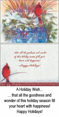 "Boxed  Christmas Cards - ""Cardinals Winter Rest """