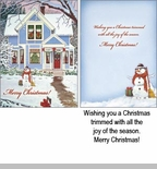 "Boxed Christmas Cards - ""Decorated For Christmas"""