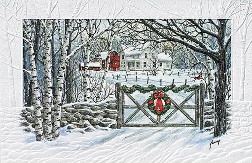 "Boxed Christmas Cards - ""Friendly Farm"""