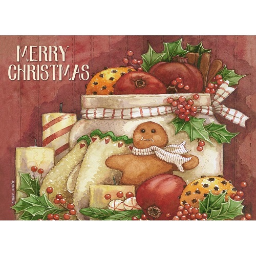 """Boxed Christmas Cards - """"Gingerbread And Persimmons"""""""