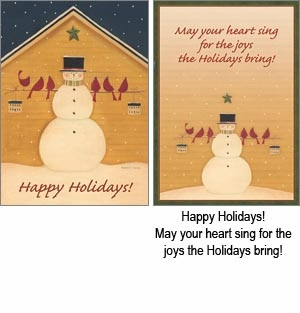 """Boxed  Christmas Cards - """"Helping Hands"""""""
