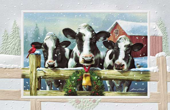 "Boxed Christmas Cards - ""Holiday Holsteins"""