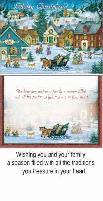 """Boxed Christmas Cards - """"Last Minute Shopping"""""""