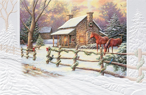 "Boxed Christmas Cards - ""Marianne's Winter Hideaway"""
