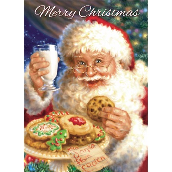 """Boxed Christmas Cards - """"Milk and Cookies"""""""