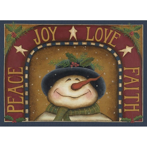"""Boxed Christmas Cards - """"Peaceful Snowman"""""""