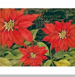 "Boxed Christmas Cards - ""Poinsettia"" - Artist Susan Winget"