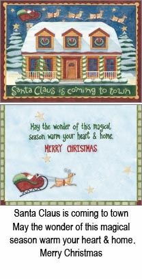 "Boxed Christmas Cards - ""Santa Claus Night"""